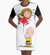 Patty and Charlie Graphic T-Shirt Dress