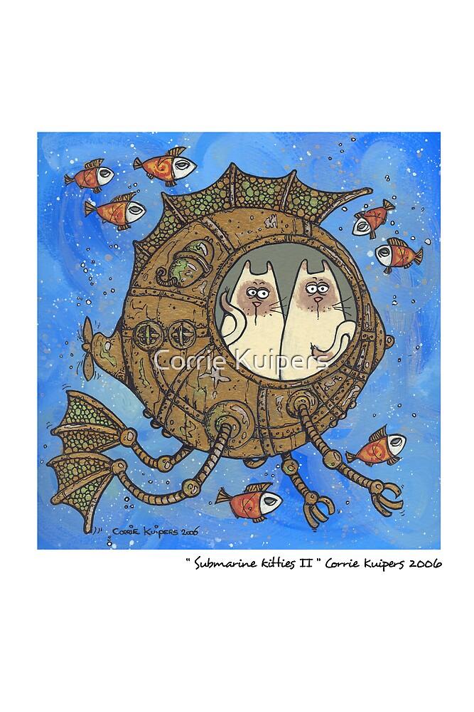 Submarine kitties II by Corrie Kuipers