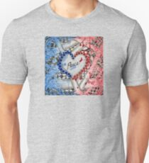 Peace, in Red, White and Blue Unisex T-Shirt