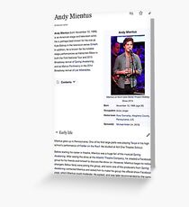 Andy Mientus Wikipedia Greeting Card