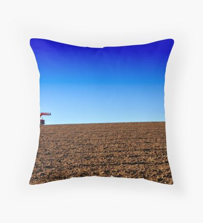 Working the land Throw Pillow