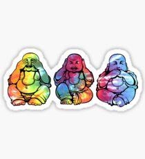 Buddhas: See no, Hear no, Speak no evil 2 Sticker