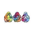 Buddhas: See no, Hear no, Speak no evil 2 by Catherine Isla