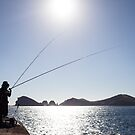 Fisherman on Jeju Island by koreanrooftop