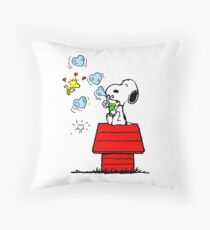 Snoopy and Woodstock Throw Pillow