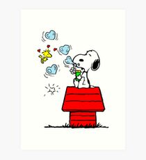 Snoopy and Woodstock Art Print