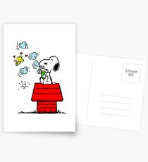 Snoopy and Woodstock Postcards