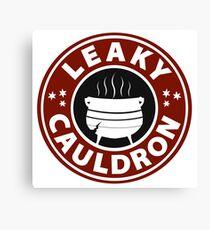 Leaky Cauldron (Red) Canvas Print