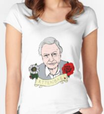 David Attenborough - AttenBae in Colour Women's Fitted Scoop T-Shirt