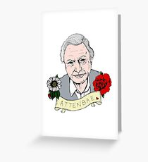 David Attenborough - AttenBae in Colour Greeting Card