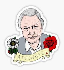 David Attenborough - AttenBae in Colour Sticker
