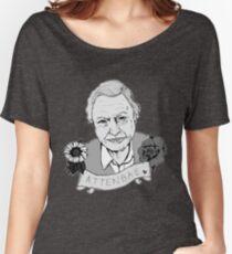 David Attenborough - AttenBae in Grey Women's Relaxed Fit T-Shirt