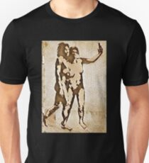 Bansky Cavemen Selfie Graphic T-Shirt