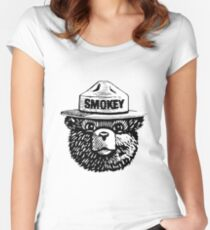 smokey the bear Women's Fitted Scoop T-Shirt
