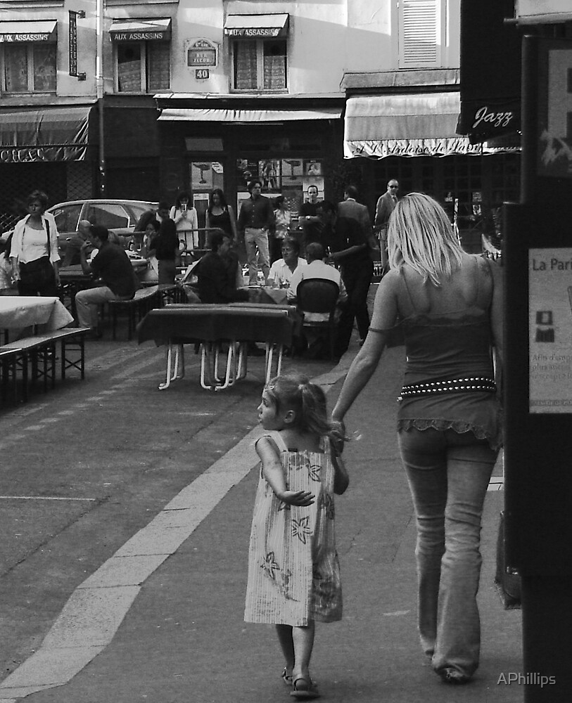 Mother and Daughter at Rue. St. Benoit by APhillips