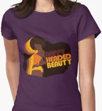 """Nappy Headed Beauty"" Womens Fitted T-Shirt"