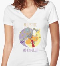 We Ball in Harmony Women's Fitted V-Neck T-Shirt