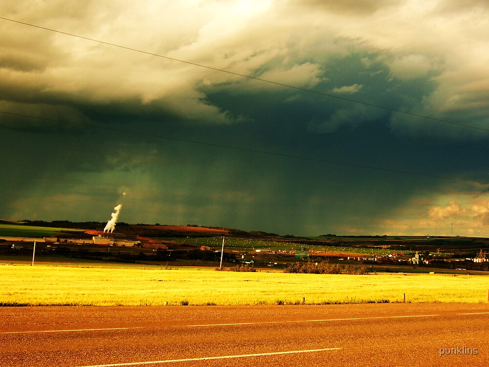 Local pollution, beautiful storm by punklins