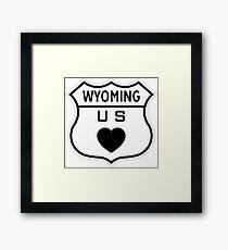 Wyoming US Highway love Framed Print