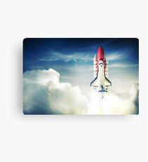 Space Shuttle Astronaut Travel Rocket Canvas Print