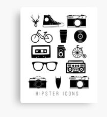 Hipster icons Canvas Print