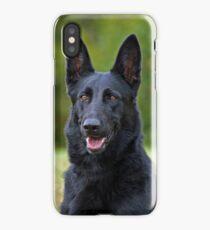 Black German Shepherd iPhone Case/Skin