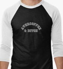 AVERCOFFEE & BITCH: White logo Men's Baseball ¾ T-Shirt