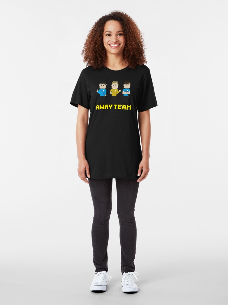 Alternate view of 8-Bit Away Team Slim Fit T-Shirt