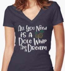 Dole Whip Dreams Women's Fitted V-Neck T-Shirt