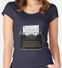Nothing To Writing Women's Fitted Scoop T-Shirt