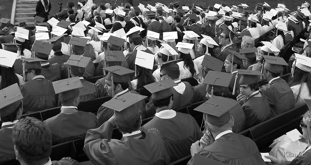 Graduation Day B&W by Kismet