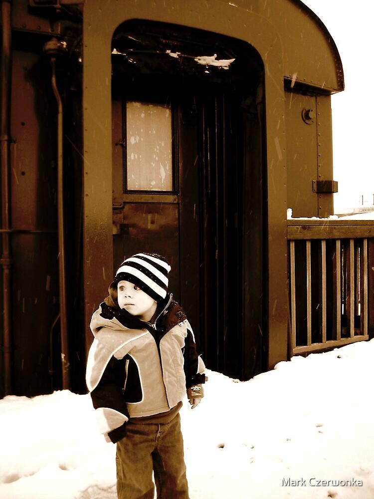 A boy and his train by Mark Czerwonka