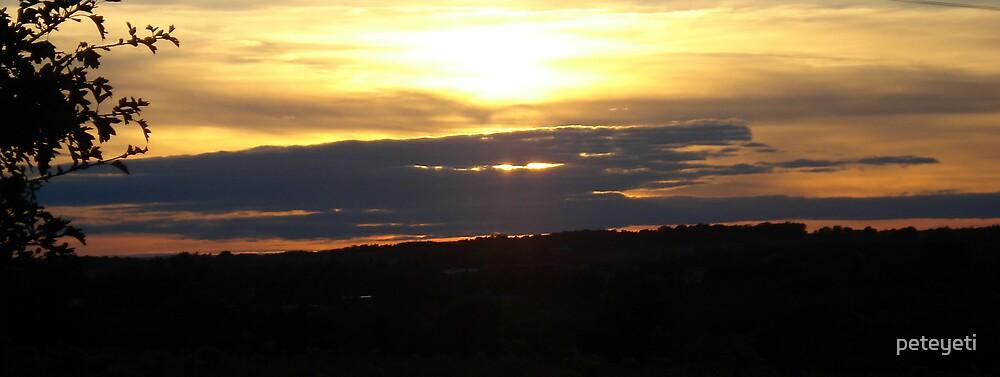 Sunset ride home by peteyeti