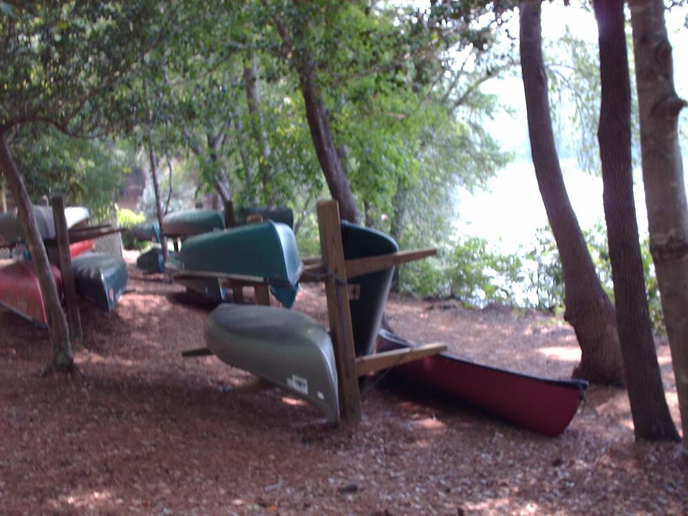 Boats at Sunset Lake by peggyprescott