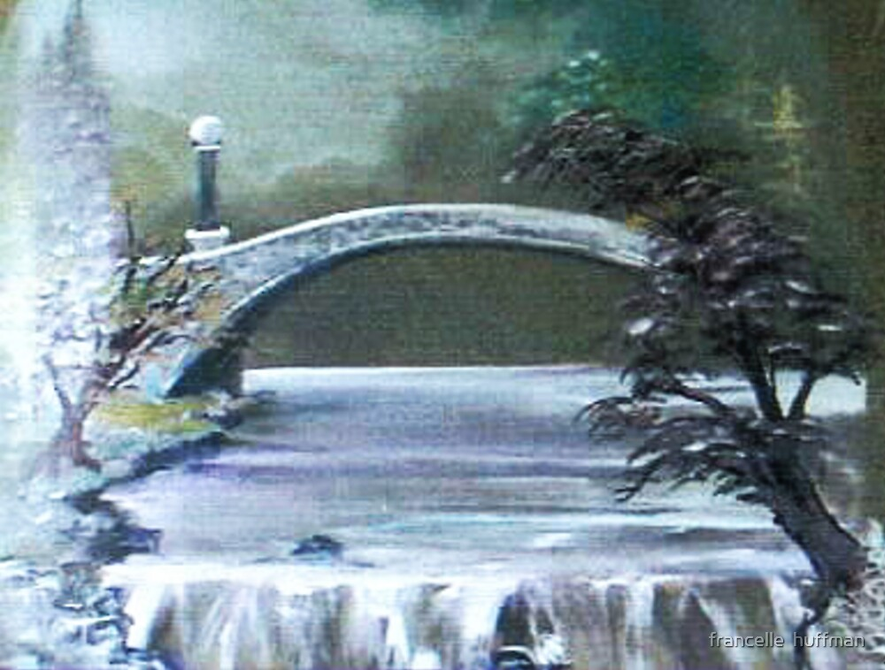BRIDGE OVER CALM WATER by francelle  huffman