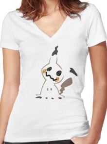 Mimikyu - Pokémon Sun Moon Women's Fitted V-Neck T-Shirt