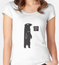 Rub Me On Your Butt Women's Fitted Scoop T-Shirt
