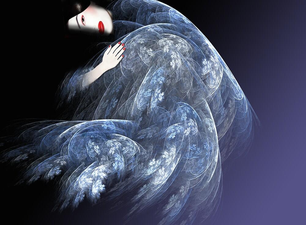 Geisha in Blue by dduhaime55