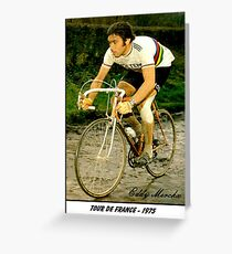 TOUR DE FRANCE; Vintage Eddy Merckx Print Greeting Card