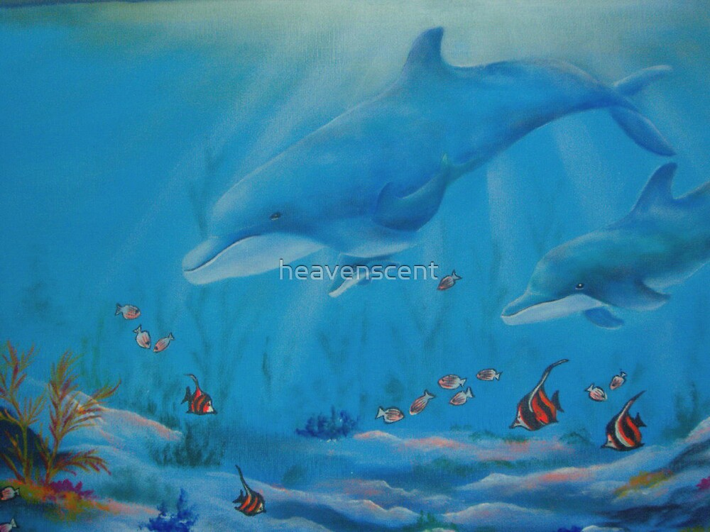 Blue dolphins by heavenscent