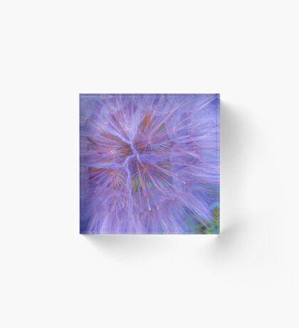 Puffball Blue Acrylic Block