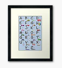 Transportation/Vehicles Alphabet Framed Print