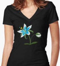 Breath of The Wild - Flower Women's Fitted V-Neck T-Shirt
