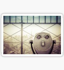 Travel Sunset Landscape - New York City - ESB/WTC Sticker