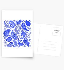Paisley Blue by Julie Everhart Postcards