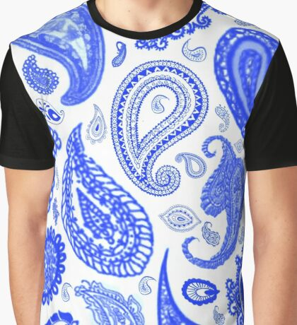 Paisley Blue by Julie Everhart Graphic T-Shirt