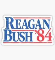 Reagan/Bush '84 Sticker Sticker
