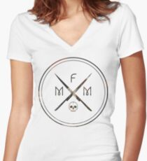 My Favorite Murder Podcast: Style 2 Women's Fitted V-Neck T-Shirt