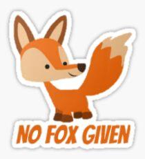 No Fox Given Sticker
