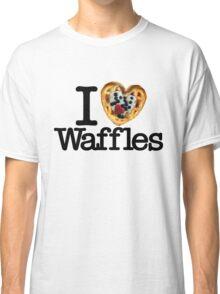 I Love (Heart) Waffles Classic T-Shirt
